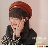 《ZB1095》針織毛線立體貝雷帽 OrangeBear