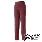 PolarStar 女 刷毛保暖長褲 『酒紅』P15422