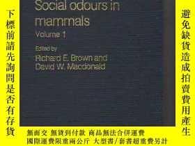 二手書博民逛書店Social罕見Odours In Mammals: Volume I-哺乳動物的社會氣味:第一卷Y43663
