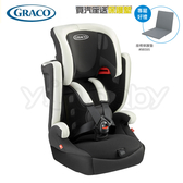 GRACO Airpop 嬰幼兒成長型輔助汽車安全座椅/汽座 -白武士(送 汽車保護墊)