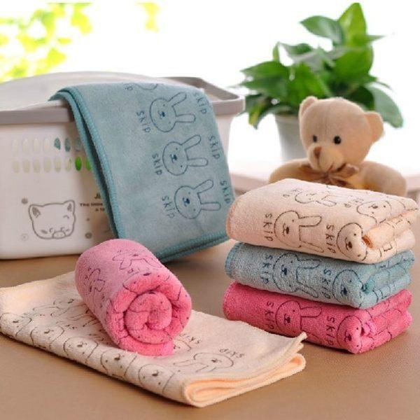 【TT】小兔超厚浴巾 韓式 薄款柔膚吸水速乾毛巾/ 快乾吸水毛巾(單條入)