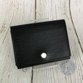 BRAND楓月 LOUIS VUITTON LV 路易威登 M56169 黑色 EPI 水波紋 卡夾 名片夾 錢包