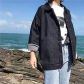 2018春秋裝新款女裝韓版黑色牛仔外套女寬鬆BF風大碼長袖短款夾克
