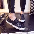 低筒懶人鞋男士帆布鞋男韓版百搭休閒鞋男鞋子一腳蹬學生布鞋  秘密盒子