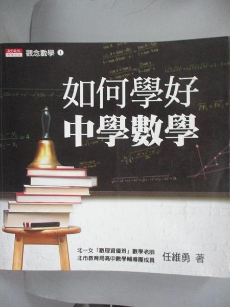 【書寶二手書T1/高中參考書_LEG】如何學好中學數學_任維勇