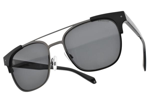 Polaroid 偏光太陽眼鏡 PLD6039SX 807M9 (黑槍-灰) 嬉皮偽復古風造型# 金橘眼鏡
