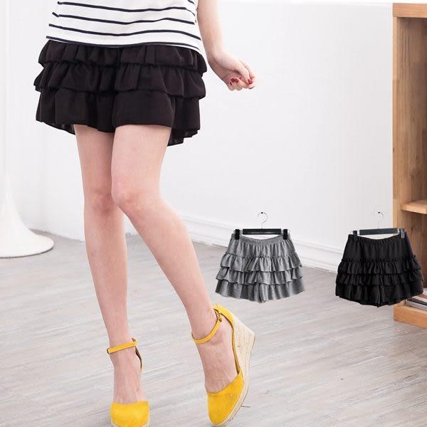 氣質甜美   日系唯美層次蛋糕褲裙  2色(XL~5L)onlyyou 中大尺碼【B8007】