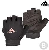 Adidas 可調式透氣短指訓練手套(粉)-S