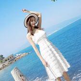 性感顯瘦吊帶裙子女夏流蘇雪紡裙超仙女海邊度假沙灘裙 東京衣櫃