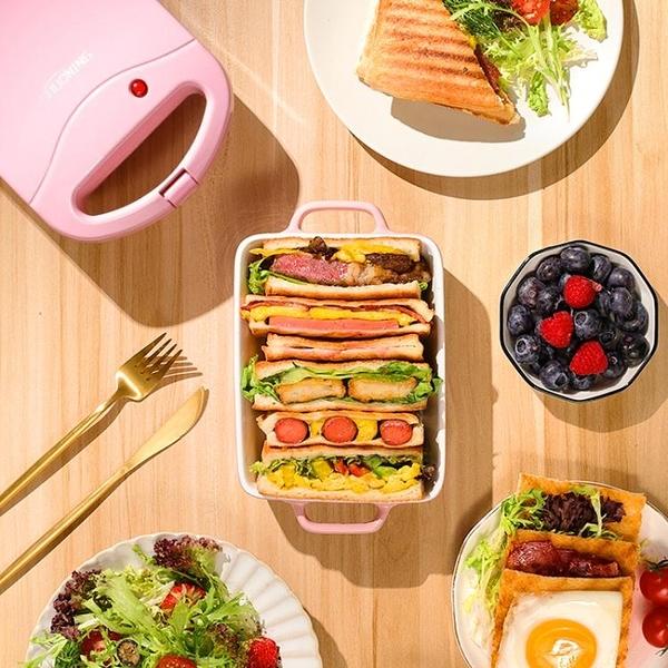三明治機早餐機家用輕食機華夫餅機多功能加熱吐司壓烤麵包機【快速出貨】