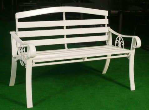 【南洋風休閒傢俱】公園桌椅系列 - 4尺鋁條公園椅 鋁合金公園椅 騎樓等待椅 戶外公園椅(A110101)