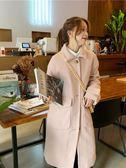 毛呢外套 森系呢子大衣秋冬女裝學生韓版中長款加厚毛呢外套 伊韓時尚