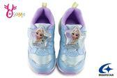 Moonstar 月星 日本機能鞋 中童 冰雪奇緣 迪士尼聯名款 艾莎 電燈鞋 運動鞋 I9624#藍色◆OSOME奧森童鞋