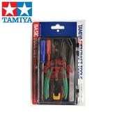 耀您館★日本田宮TAMIYA基本模型工具組74016(斜口鉗一字起子十字起子銼刀鑷子美工刀)塑膠模型工