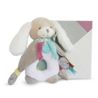 Doudou 長耳長腳兔甜甜圈布偶(17cm)