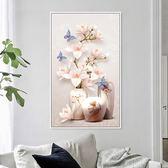 3d十字繡2019新款繡臥室清新花卉系列玄關豎版客廳線繡簡單小件幅 NMS名購居家