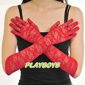 手套 全罩造型.紅色蕾絲花紋手套(長)-玩伴網【滿額免運】
