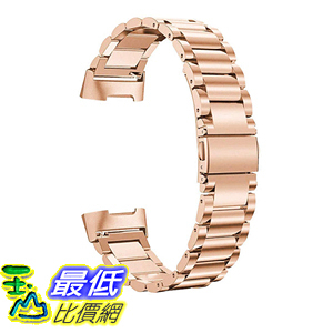 [9美國直購] SWEES 錶帶 Metal Bands Compatible Fitbit Charge 3 & Charge 3 SE Band, Premium Stainless Steel Metal Band