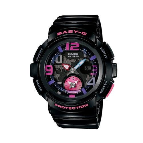 CASIO BABY-G/旅行時間雙顯運動錶/BGA-190-1BDR