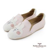 Paidal x 卡娜赫拉的小動物 - 大頭兔兔休閒鞋樂福鞋-立體耳朵