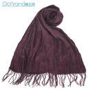 POLO RALPH LAUREN小馬LOGO素面披肩圍巾(葡萄紫)780909-5