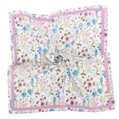 LAURA ASHLEY 繽紛花卉圖騰純棉帕領巾(粉紫色)989270-1