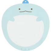 小禮堂 角落生物 恐龍 塑膠大圓扇保護套 透明扇套 圓相框 扇套 (藍 大臉) 4974413-76373