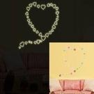 【收藏天地】創意生活*小愛心夜光貼/ 壁貼 家飾 居家 裝飾 佈置 環保