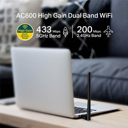 TP-LINK ARCHER T2U PLUS AC600 Wifi 高增益 USB 無線雙頻網路卡 Wifi 網卡