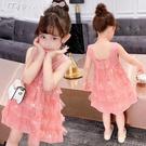 女童洋裝女童背心裙連身裙新款中大童洋氣兒童公主裙童裝女孩夏裝裙子 快速出貨