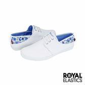 Royal Elastics Sophia 潮流休閒鞋-白x水藍碎花