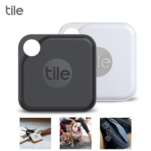 Tile Pro 2.0  智慧藍芽防丟尋物器  2入(白色+黑色)【限時回饋↘省$218】