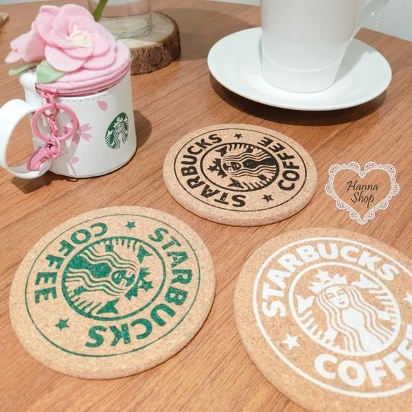 《花花創意会社》外流。星巴巴Starbucks杯墊經典復古女神軟木墊 三色【H7027】