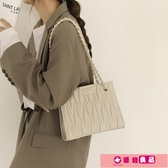鍊條包 大容量包包女2020新款潮網紅韓版菱格鍊條包高級感百搭大氣托特包 源治良品
