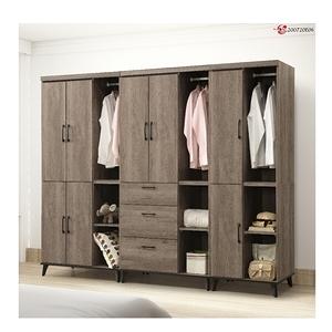 【MUNA 家居】莫可灰橡色8尺衣櫥/衣櫃