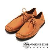 WALKING ZONE 英倫真皮方頭開車鞋 兩用踩腳鞋(男)-棕(另有黑)