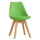 【森可家居】迪古綠色餐椅 7ZX883-7 實木 木紋質感 北歐風