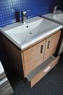 【麗室衛浴】日本INAX GL-2397V-TW 上崁臉盆+防水發泡板浴櫃 65cm