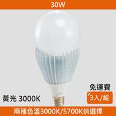 HONEY COMB LED 30W廣角度球泡 黃光 3入一組 B-01043