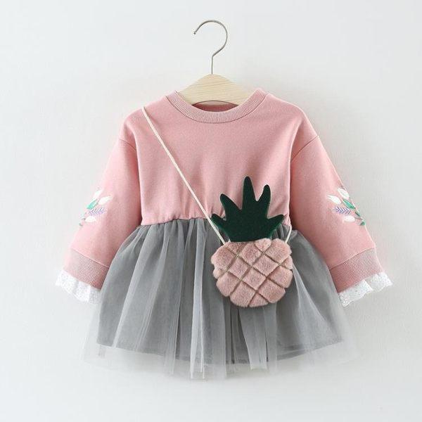 兒童洋裝 女童洋裝春秋裝2018新款兒童裝裙子洋氣長袖韓版紗裙寶寶公主裙