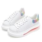 PLAYBOY 簡約質感 輕量氣墊小白鞋-白彩(Y7302)