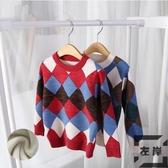 男女童毛衣套頭寶寶童裝加絨加厚兒童針織打底衫【左岸男裝】
