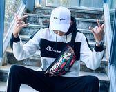全館83折腰包男多功能運動手機包2018新款挎包男單肩包休閒胸包男潮牌斜挎