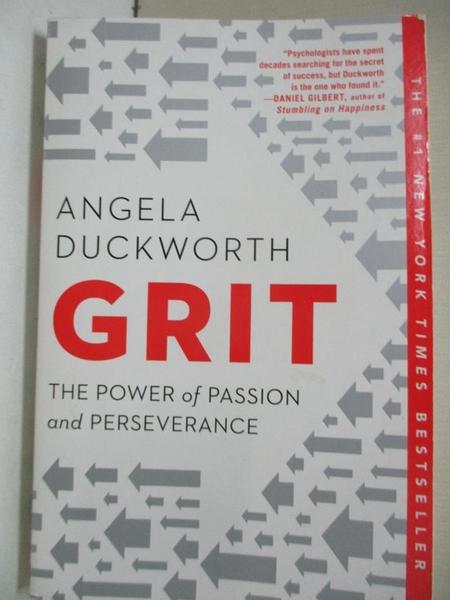 【書寶二手書T1/心理_BBZ】Grit: The Power of Passion and Perseverance_Duckworth, Angela