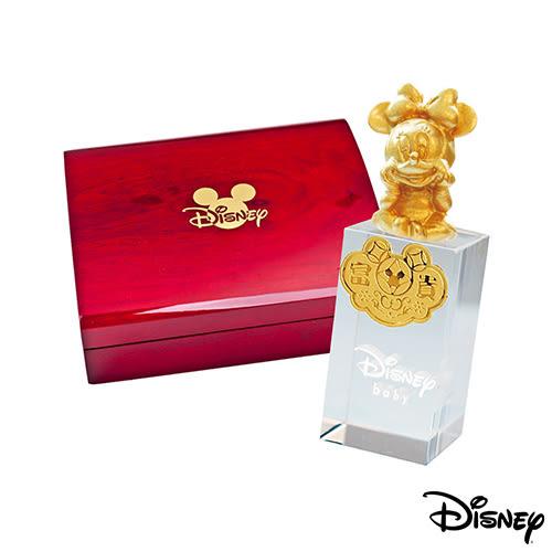 Disney迪士尼金飾 美妮水晶印章木盒