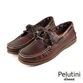 【Pelutini】donna女款休閒雷根鞋 酒紅色(6733W-WIN)