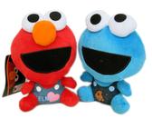 【卡漫城】 芝麻街 玩偶 ㊣版 Elmo 餅乾怪獸 cookie monster 絨毛 娃娃 二隻組 2 9 9元