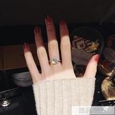 水晶潮人戒指女日韓網紅大氣個性學生Chic極簡冷淡風食指環 韓慕精品