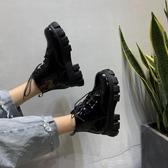 短靴 馬丁靴女百搭低筒小皮鞋女學生短靴女春秋單靴英倫風靴子-Ballet朵朵