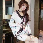 和服女正裝 和服女學生正裝櫻花包臀短裙秋裝性感原宿風日本女裝 宜室家居